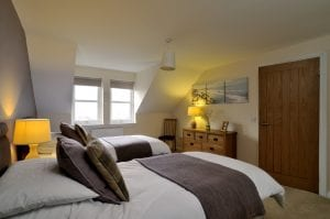 Large twin beds